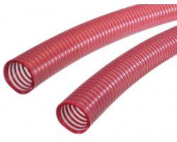 Tubo Per Vino Con Spirale Rinforzata Rossa in PVC ø 25 mm