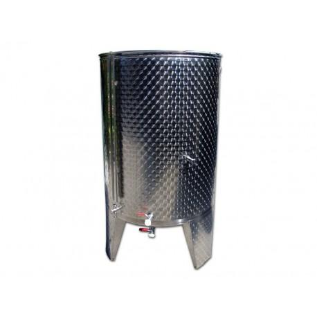 Serbatoio Acciaio Inox 1000 Litri Completo