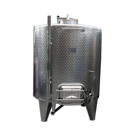 Serbatoio Acciaio Inox 5000 Litri Completa con Botola