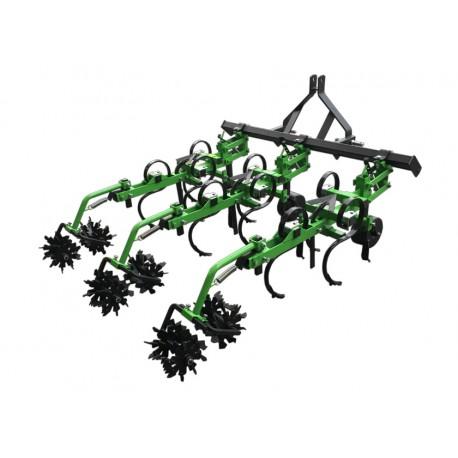 Coltivatore Rincalzatore 3 Elementi con Rulli Sarchiatore