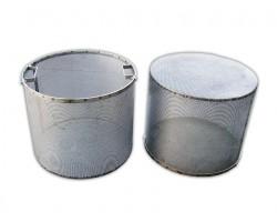 Cestello Forato Acciaio Inox Filtro Foro 1,8 mm con Manici
