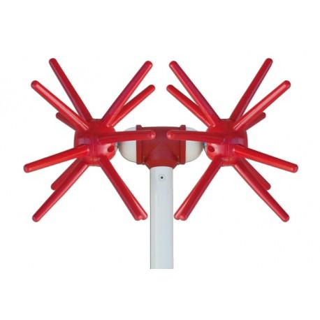 Abbacchiatore Scuotitore Elettrico Briolivo X4 Rotante Vibrante 24 Dita 12 Volt