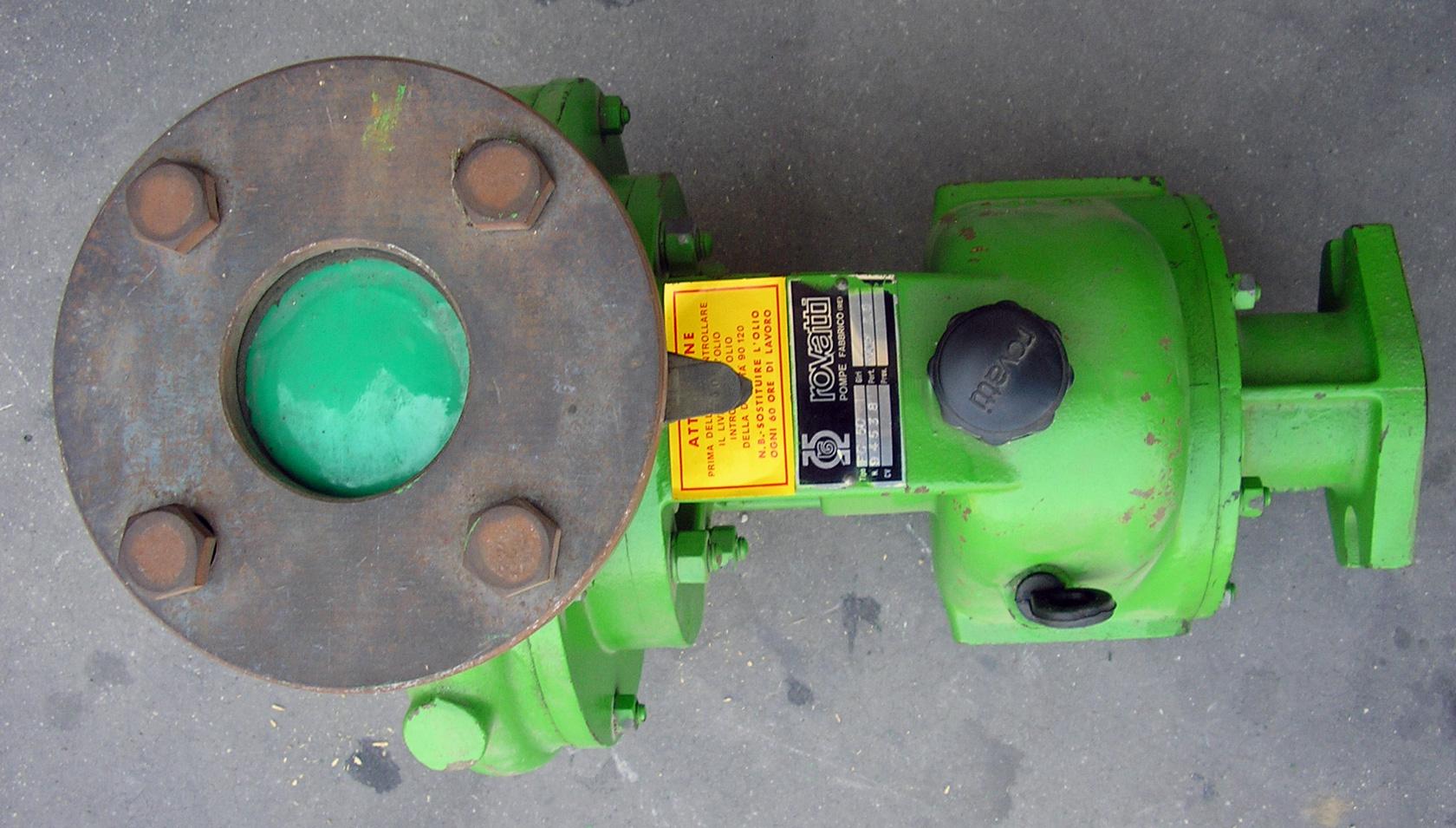 Pompa rovatti fc 50 per motocoltivatori rimanenza di magazzino for Pompa per motocoltivatore