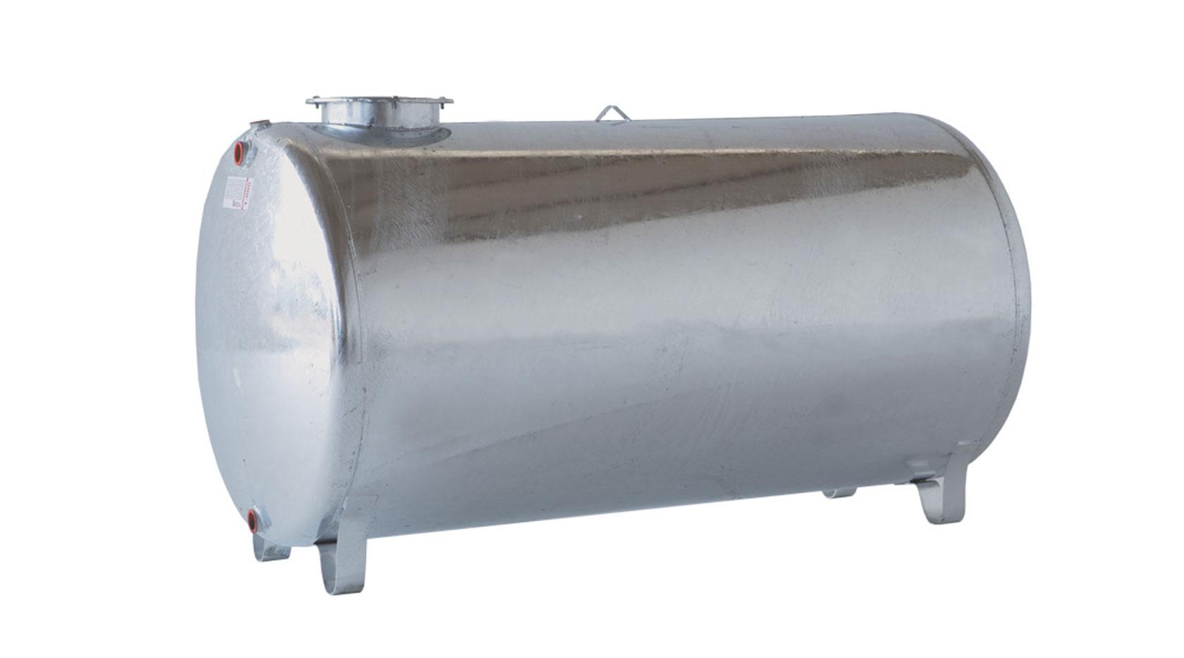 Serbatoio zincato 5000 litri orizzontale imbriano srl for Serbatoio di acqua di rame