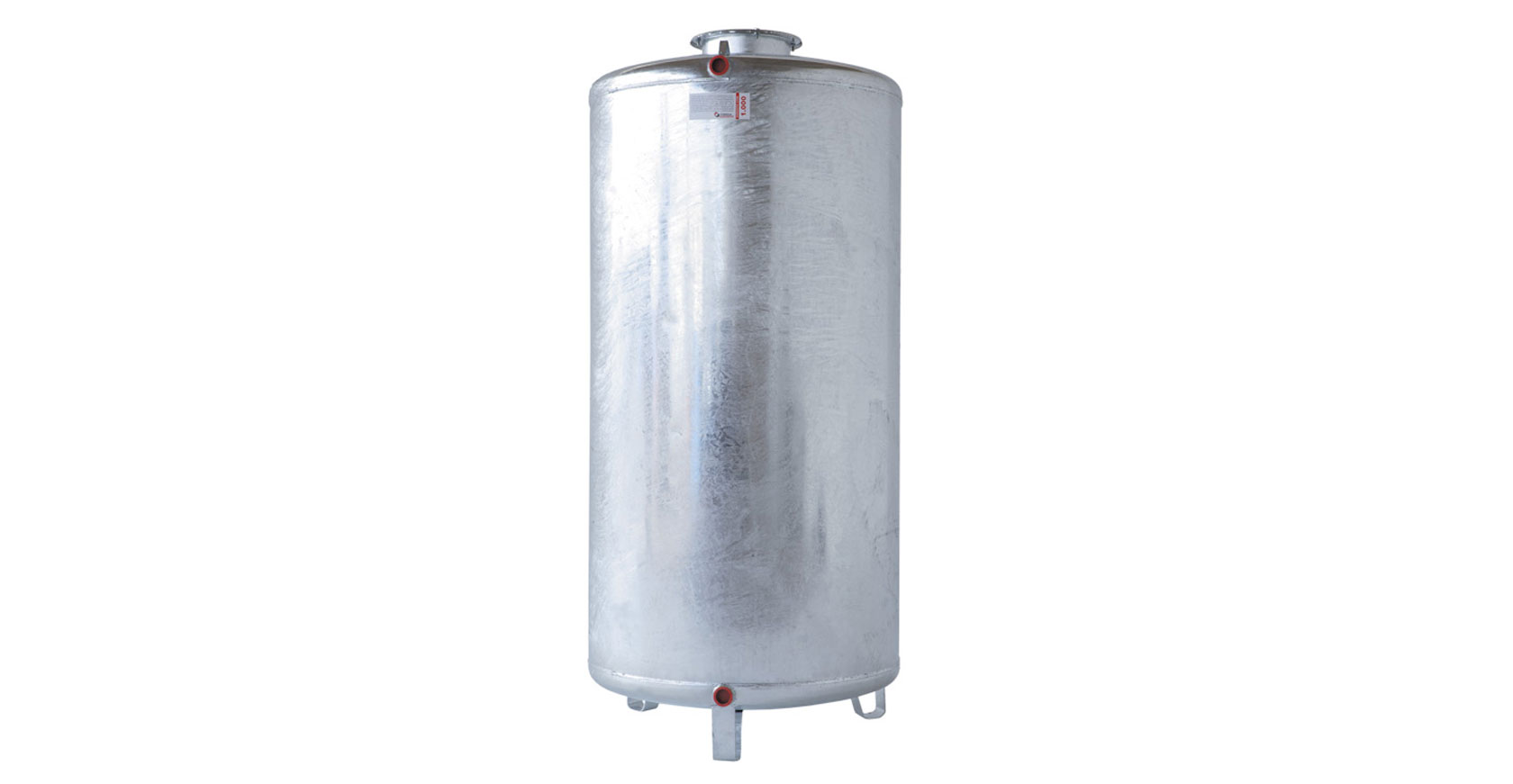 Serbatoio zincato 2000 litri verticale imbriano srl for Serbatoio di acqua di rame