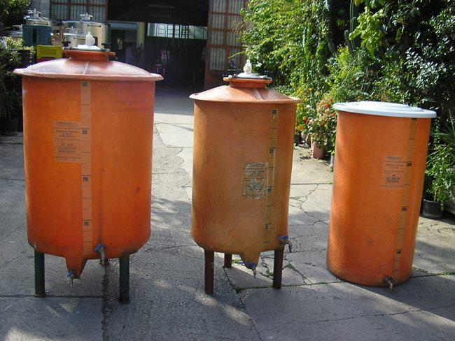 Botti Gamba Lt 5per fermentazione rotativa